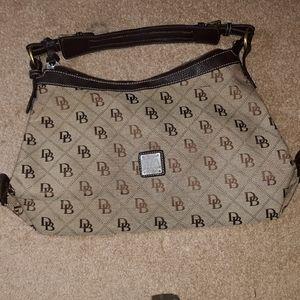 Dooney & bourke signature 1975 large Hobo bag